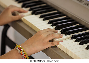 Pianist - Piano pianist hands playing music