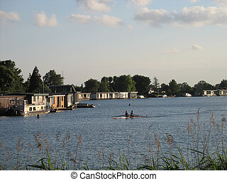 Houseboats in Holland.