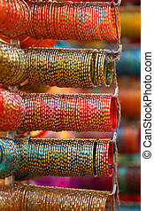 Bangles - Colorful bangles are up for sale out side the...