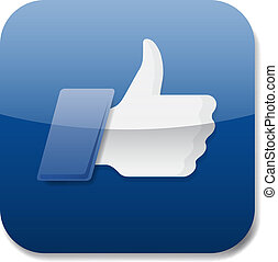 Thumbs up icon - like button - Thumbs up button - like...