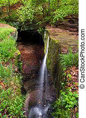 roca, Puente, cascada