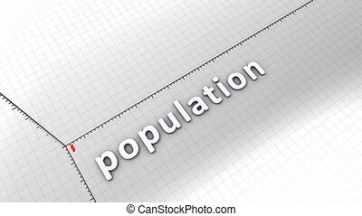 Growing chart - Population - Growing chart graphic...