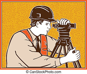 Surveyor Geodetic Civil Engineer Retro