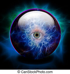 Crystal Ball with all seeing eye - Crystal Ball