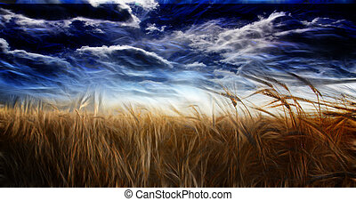 Abstracted Field and Sky