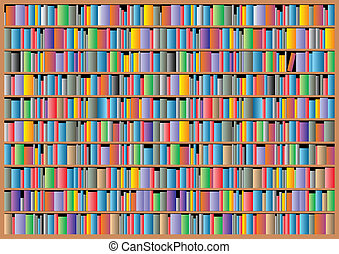 bookcase background - illustrated nice bookcase as...