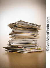 stack of papers - big stack of papers (documents)