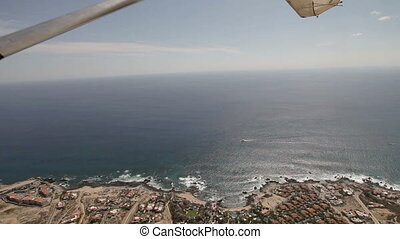 los cabos in baja califonia sur, mexico, shot from the air...