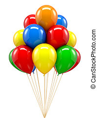 Red ballon for party, birthday, colorful, color
