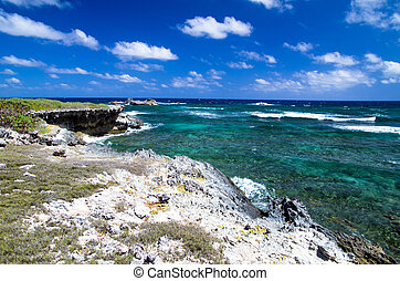 Atlantic ocean coastline . Dominican Republic