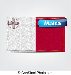 Fabric texture of the flag of Malta