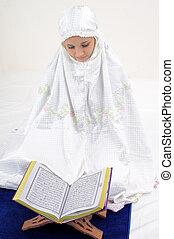 koran,  Muslim, czytanie, kobiety
