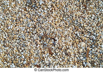 Gravel Background - A macro view of pea gravel making for an...