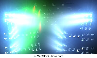 Concert lights flood animation, full stage lights