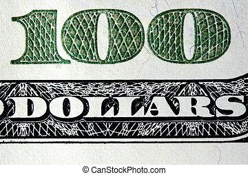 100, dólares