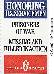 POW - US postage stamp honoring our soldiers