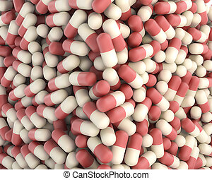 background made of pills - background made of large number...