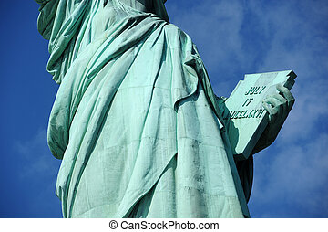 liberty statue book - a zoom of a book that statue of...