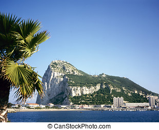 Rock of Gibraltar - Gibraltar on a sunny day seen from...