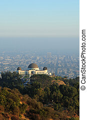 observatory on hill - the griffith observatory on the hill