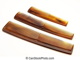 Combs - Several combs on white background