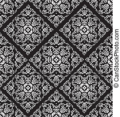 Seamless lace pattern - black and white background