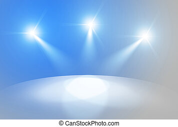 Marketing background - Scene highlighted by light streams