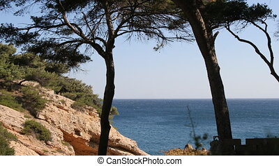 coastal view of calanques outside of marseille, france
