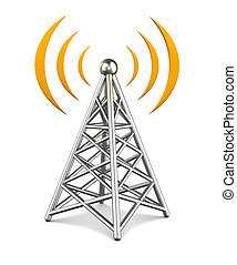 3d illustration of tower wireless equipment