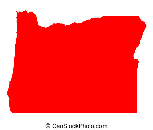 Map of Oregon