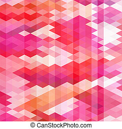 Seamless geometric pattern in red colors
