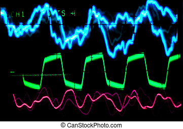 ocsilloscope waveforms of music - oscilloscope waveforms of...
