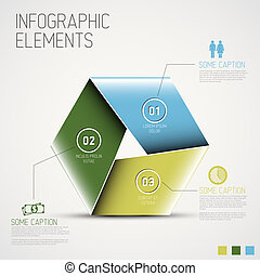 Abstract shape with Infographic - Vector Abstract shape with...
