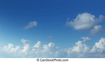 shot of beautiful moving clouds and sky