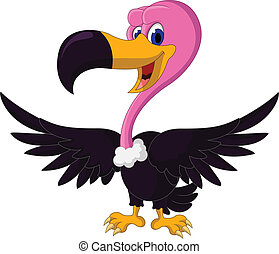 cute Vulture cartoon - vector illustration of cute Vulture...