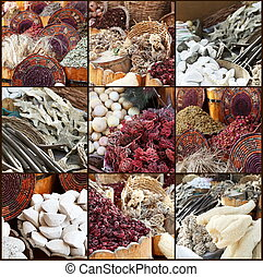 Arabic Tea, Spices and Herbs Collage