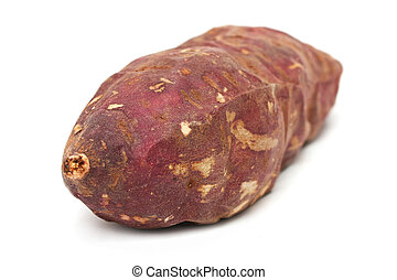 Purple Sweet Potato - A purple sweet potato isolated on...