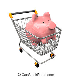 Shopping Cart Piggy Bank