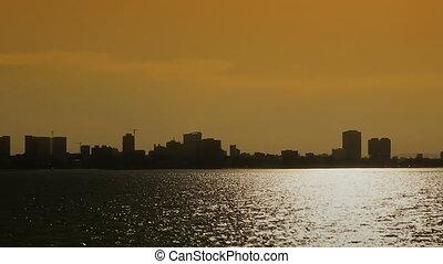 cityscape sea view