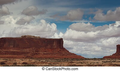 the amazing rock structures at canyonlands, utah, usa with...