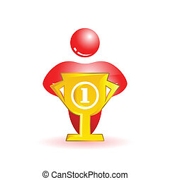 First place Social people icon Vector illustration