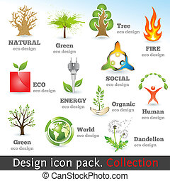Design 3d color icon set. Design elements. Vector...