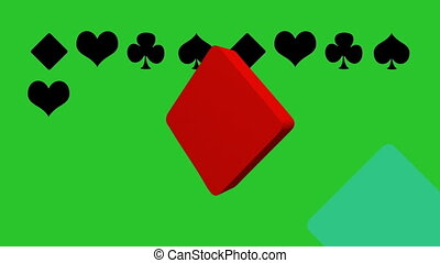 casino and playing cards animation