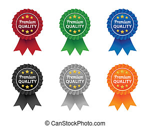 Premium quality labels - Collection of premium quality...