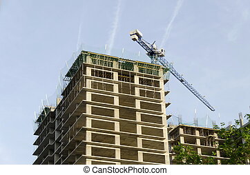 Construction of building - Construction of many storeyed...