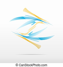 abstract business icon logo design