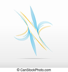abstract flower business icon logo design