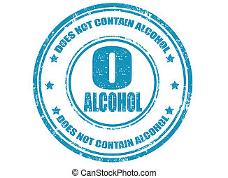 Not contain alcohol-stamp - Grunge rubber stamp with text...