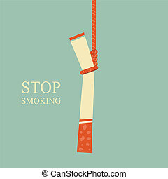 Stop Smoking - hanged cigarette