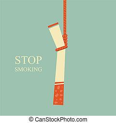 Stop Smoking - hanged cigarette